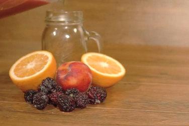 Orange, Peach and Blackberry Smoothie!