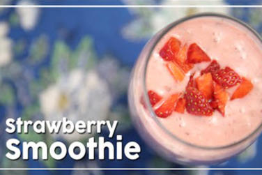 Healthy Strawberry Smoothie!