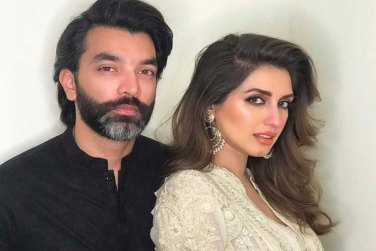 Beautiful Clicks of Actress Iman Ali With Her Husband!