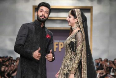 Fahad Mustafa and Mawra Hocane Walked at Ramp at FPW19!