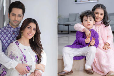 Ayeza Khan and Danish Taimoor Eid Pictures with Kids!